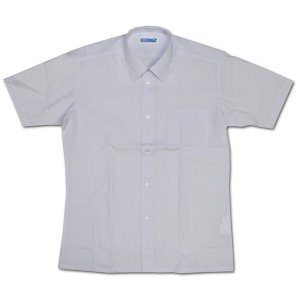 MIND NOTE 形態安定メンズ半袖スクールワイシャツ ホワイト(蛍光白) カッターシャツ 半袖ワイシャツ Yシャツ 男性用 学校衣料 学生衣料 学生服  明石被服興業|roco
