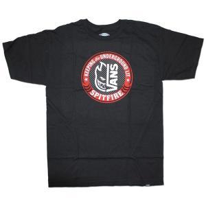 VANS(バンズ) 半袖Tシャツ VANS×SPITFIRE BLACK|roco