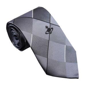 ヴィヴィアンウエストウッド ネクタイ AW2019モデル 11133-P201GY GREY グレー系 チェック柄|rocobi