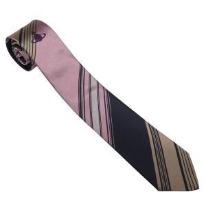 ヴィヴィアンウエストウッド ネクタイ AW2020モデル 11540 G201-PINK_slim 7cm スリム ストライプ ピンク系|rocobi