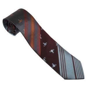ヴィヴィアンウエストウッド ネクタイ AW2020モデル 11541 K204-PETROL 8.5cm ストライプ ペトロール系|rocobi