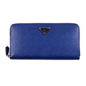 PRADA 長財布 1ML506  F0016 BLUETTE  QHH SAFFIANO TRIANGOLO ブルー 青 レディース 女性用 rocobi