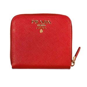 PRADA 二つ折り財布 1ML522  F068Z FUOCO  QWA SAFFIANO METAL ORO レッド系 女性用 rocobi