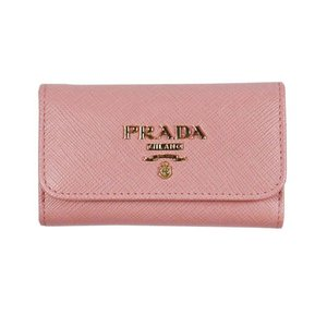 PRADA キーケース 1PG222  F0442 PETALO  QWA SAFFIANO METAL ORO ピンク系 女性用|rocobi
