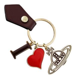 ヴィヴィアン ウエストウッド キーリング レディース I LOVE ORB GADGET 321566 005 BORDEAUX ボルドー×ゴールド 女性用|rocobi