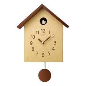 リズム時計工業 RHYTHM 鳩時計 カッコースタイル 145 薄茶半艶仕上 4MJ441NC06 壁掛け時計 ハト 時報 報時 アナログ rocobi