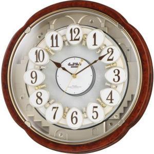 電波時計 壁掛け時計 からくり スモールワールドコンベルS 4MN480RH23 アナログ|rocobi