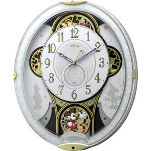 Disney ディズニー 電波からくり壁掛け時計 ミッキー&フレンズ M509 4MN509MC03 メロディー 音楽 白 ホワイト アナログ rocobi