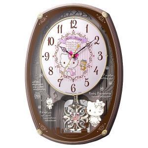 サンリオ からくり電波時計 壁掛け時計 ハローキティM540 4MN540MB13 メロディー キティちゃん アナログ 子供 女の子|rocobi