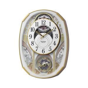 RHYTHM からくり電波壁掛け時計 4MN551RH03 スモールワールドノエルS 音楽 ミュージック メロディー アナログ リズム時計工業|rocobi