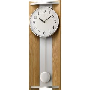 訳あり アウトレット品 RHYTHM クオーツ壁掛け時計 モダンライフM05 4MPA05RH07 柱時計 振り子 アナログ rocobi