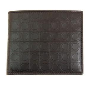 フェラガモ 二つ折り財布 メンズ レザー 小銭入れ有り ブラウン 66x9407x01x0536856caffe 茶色 革 男性用 Ferragamo サルヴァトーレ・フェラガモ|rocobi
