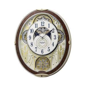 RHYTHM 電波 からくり時計 スモールワールドノエルNS 8MN407RH23 アナログ 掛時計 リズム時計工業|rocobi