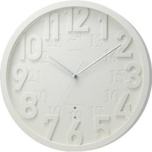 RHYTHM 電波壁掛け時計 8MY483RH03 スタンダードスタイル128 ホワイト(ホワイト) アナログ