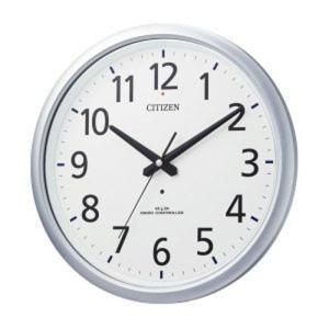 シチズン 電波時計 壁掛け時計 防水 8MY493-019 スペイシーアクア493 シルバーメタリック色(白) アナログ rocobi