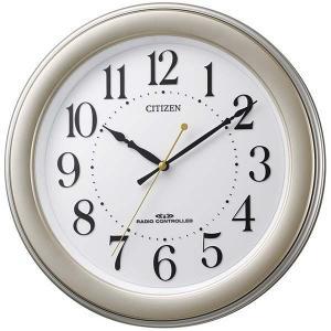 シチズン 電波時計 壁掛け時計 8MY509-018 連続秒針 ゴールドメタリック色 白 アナログ rocobi