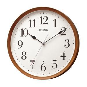 シチズン 電波壁掛け時計 8MY540-006 アナログ CITIZEN 木枠 掛時計 リズム時計工業