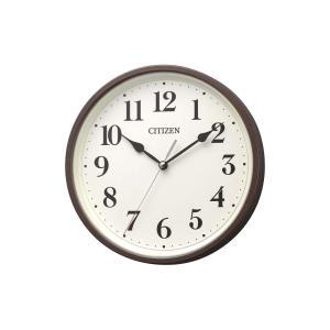 CITIZEN シチズン 電波時計 壁掛け 8MYA42-006 掛置き兼用 連続秒針 ブラウン 茶色 ベージュ アナログ rocobi