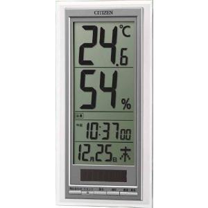 シチズン 温度計 湿度計付き時計 8RD204-A19 ソーラー付き デジタル ライフナビD204A|rocobi