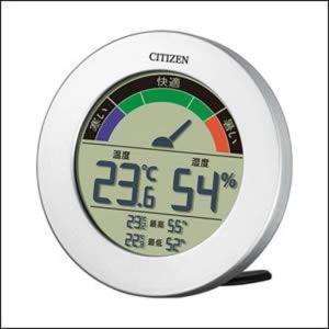 シチズン 掛置兼用 温度計 湿度計 8RDA67-B19 ライフナビD67B 銀色 デジタル (コ)|rocobi