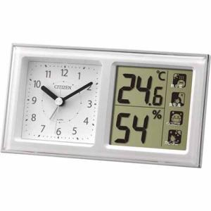 シチズン 8RE648-A03 クオーツ 目覚まし時計 デジタル 温時計 湿度計 ライフナビ648A 白|rocobi