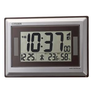 シチズン 電波時計 壁掛け時計 置き兼用 8RZ182-019 カレンダー 温度 湿度 ソーラー電源 シルバーメタリック デジタル rocobi