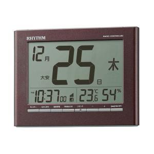 RHYTHM 電波壁掛け置き兼用時計 8RZ208SR06 フィットウェーブカレンダーD208 デジタル カレンダー 六曜 リズム時計工業|rocobi