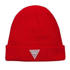 GUESS ゲス ニット帽 ニットキャップ AI4A8858DS_RED レッド メンズ レディース 男性用 女性用|rocobi