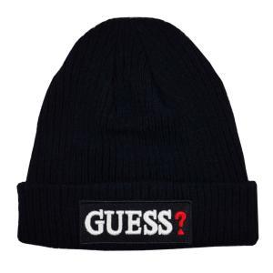 GUESS ゲス ニット帽 ニットキャップ AI4A8859DS_NVY ネイビーブルー メンズ レディース 男性用 女性用|rocobi