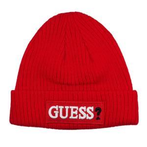 GUESS ゲス ニット帽 ニットキャップ AI4A8859DS_RED レッド メンズ レディース 男性用 女性用|rocobi