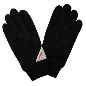 REPLAY リプレイ メンズ スウェード手袋 AM6018-002-A3066B-098 BLACK サイズ:L ブラック 黒 男性用 ブランド|rocobi