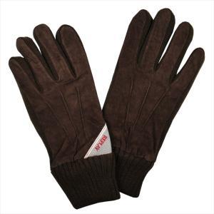 REPLAY リプレイ メンズ スウェード手袋 AM6018-002-A3066B-128 BROWN サイズ:L ブラウン 茶色 男性用 ブランド|rocobi