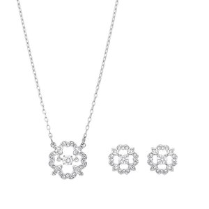 スワロフスキー SWAROVSKI 5397867 ダンシングクリスタル クリスタルパヴェ フラワー ペンダント ピアスセット Sparkling Dance Flower Set アクセサリー|rocobi