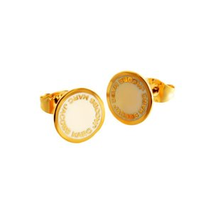 マークジェイコブス M0008544-106 Cream ロゴ ディスク エナメル スタッド ピアス Logo Disc Enamel Studsレディース 女性用 rocobi