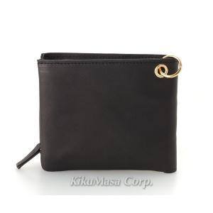送料無料 ソフト オイル レザー袋縫い二つ折り財布 ブラック 小銭入れ有り 牛革 本革 メンズ 男性用 黒 2つ折り|rocobi