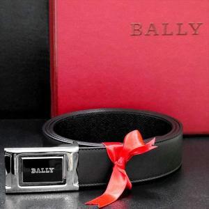 バリー BALLY リバーシブル ベルト BLACK CALF PLAIN 6184665 ブラック(ツヤ無)×ブラック(型押し) 黒 革 メンズ 男性用|rocobi