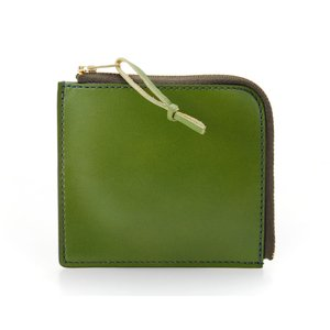 バンタンレザー Lファスナー 財布 グリーン 牛革 緑色 (コ)|rocobi