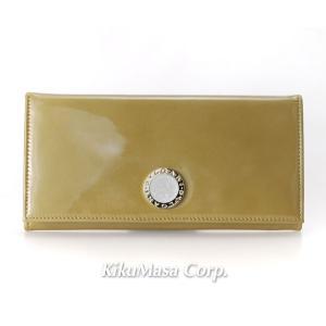 ブルガリ 長財布 エナメルレザー BB COLORE 33761 アンティークゴールド (ブラウン系) 小銭入れ有り レディース メンズ 女性用 男性用 金色 茶色 BVLGARI rocobi
