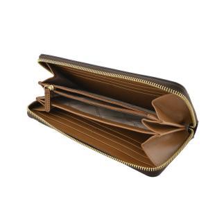 マイケルコース MICHAEL KORS 32S7GM9E9B 200 BROWN 背面カードポケット付 シグネチャー柄 ラウンドファスナー長財布|rocobi|03
