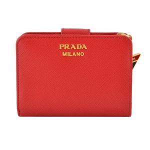 プラダ PRADA 1ML018 2CGD 68Z サフィアーノレザー トライアングルチャーム付 二つ折り財布 rocobi