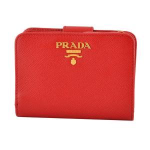 プラダ PRADA 1ML018 QWA 68Z サフィアーノレザー 二つ折り財布 rocobi
