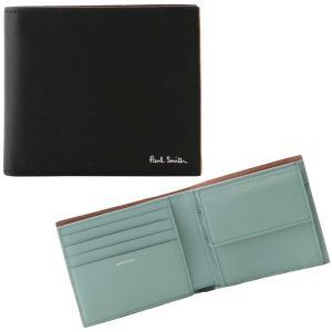 ポールスミス PAUL SMITH 4833 FSTRGS 78A 小銭入れ有り 二つ折り財布 ブラック/マルチカラー メンズ ウォレット 男性用|rocobi