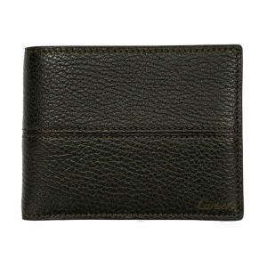 カルティエ 二つ折り財布 メンズ サドルステッチ L3001262 ダークブラウン 茶色 レザー 小銭入れ無し 男性用 本革 カルチェ|rocobi