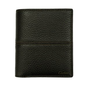カルティエ 二つ折り財布 メンズ サドルステッチ L3001263 ダークブラウン 茶色 レザー 小銭入れ無し 男性用 本革 カルチェ|rocobi