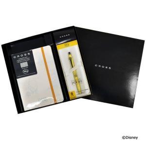 クロス ペン&ノートブックセット ディズニークラシック プー AT0625D4-12/AC272-5M ギフトBOXセット イエロー ホワイト Disney|rocobi