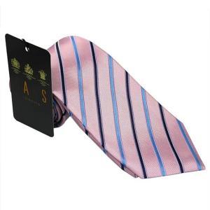 DAKS ダックス ネクタイ d11534color6 ピンク系 約8cm レジメンタル ストライプ ビジネス|rocobi