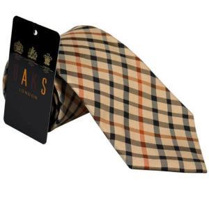 DAKS ダックス ネクタイ daks1001 ライトブラウン系 チェック柄 約8cm|rocobi