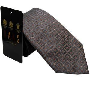 DAKS ダックス ネクタイ daks1250 グレー系  約8.5cm|rocobi
