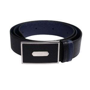 ダンヒル ベルト メンズ リバーシブル BPS705A ブラック ブルー rocobi