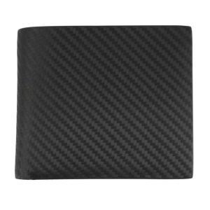 ダンヒル 二つ折り財布 メンズ 小銭入れ有り ブラック CHASSIS L2A232A カーボン柄 黒 レザー 男性用 紳士 dunhill|rocobi